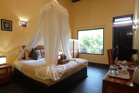 DELUXE DOUBLE ROOM in PADANGBAI BEACH RESORT - Manggis - Bed & Breakfast