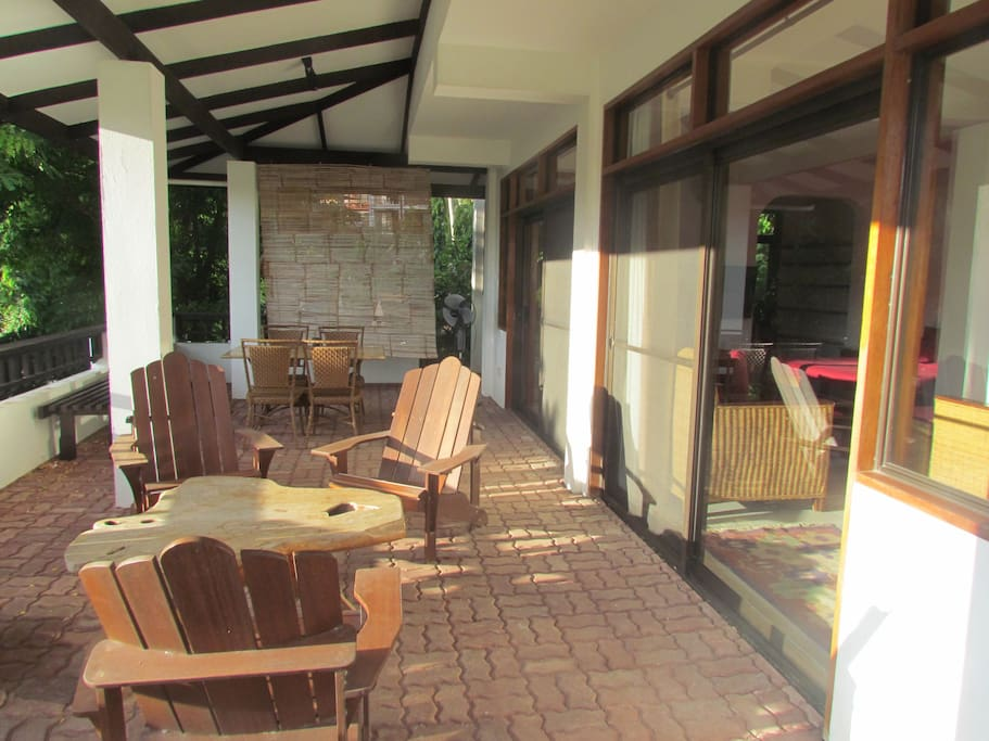 Outside seating area for meals or just relaxing