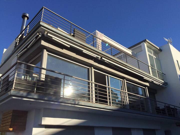 Large design home, pool and sea views. Sleeps 9
