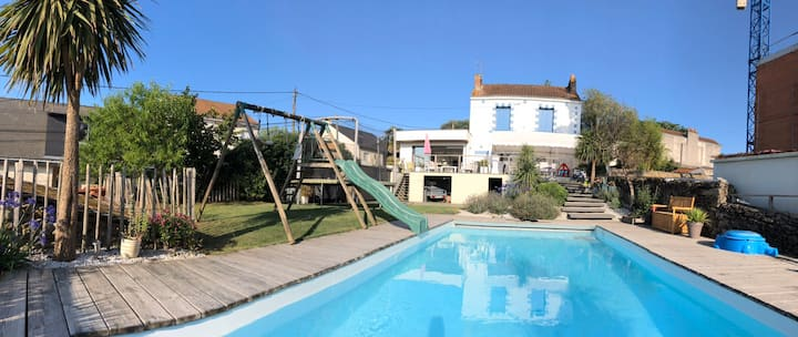 Holiday house with swimming pool.