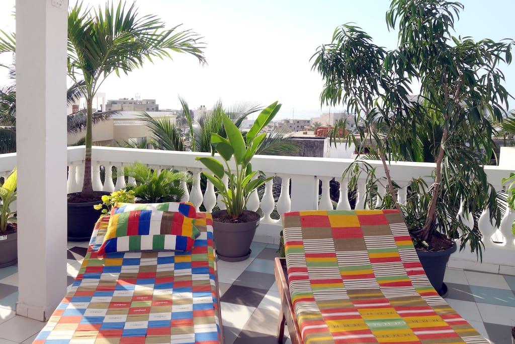Relaxation sur la terrasse