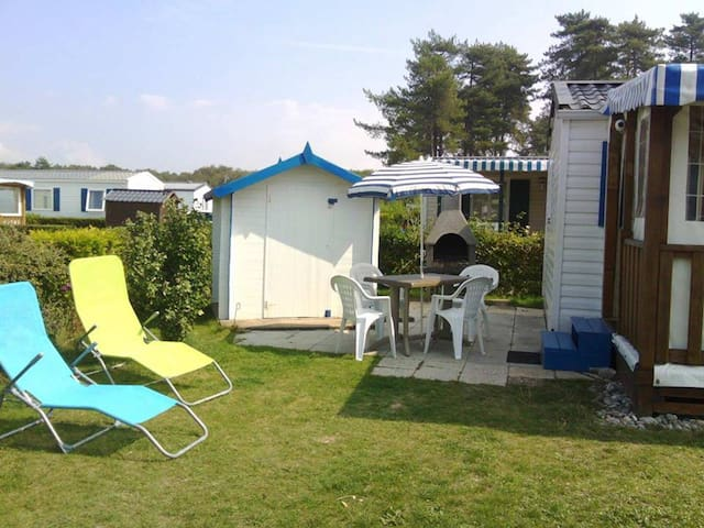 Mobil-home Quend Plage camping bois dormant 4