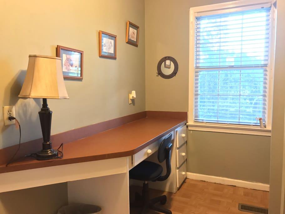 Guest Bedroom Desk Area