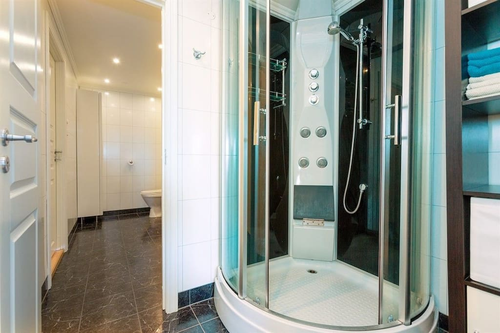 Shower in separate room