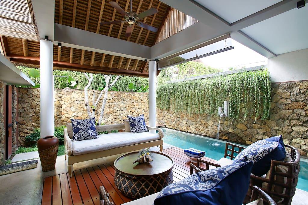 Living Room & Pool