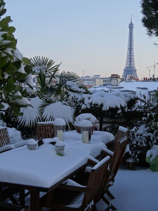 Winter on the terrace.