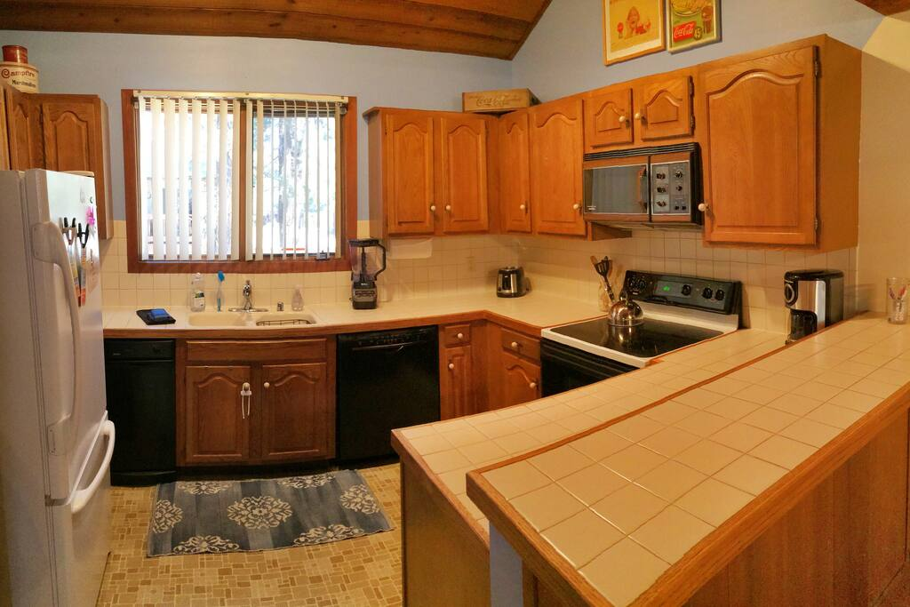 Kitchen, shared with other guests.