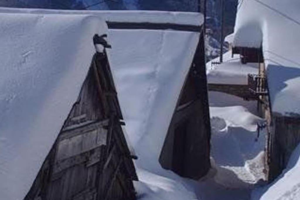 le village l'hiver