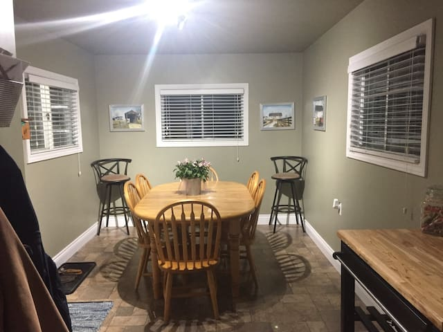 Enjoy your own meal or coffee in the dining room