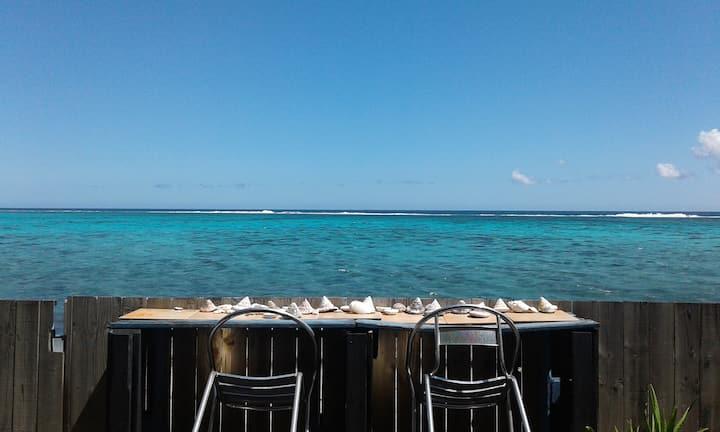 Chambre double vue sur lagon - Cool place to be.
