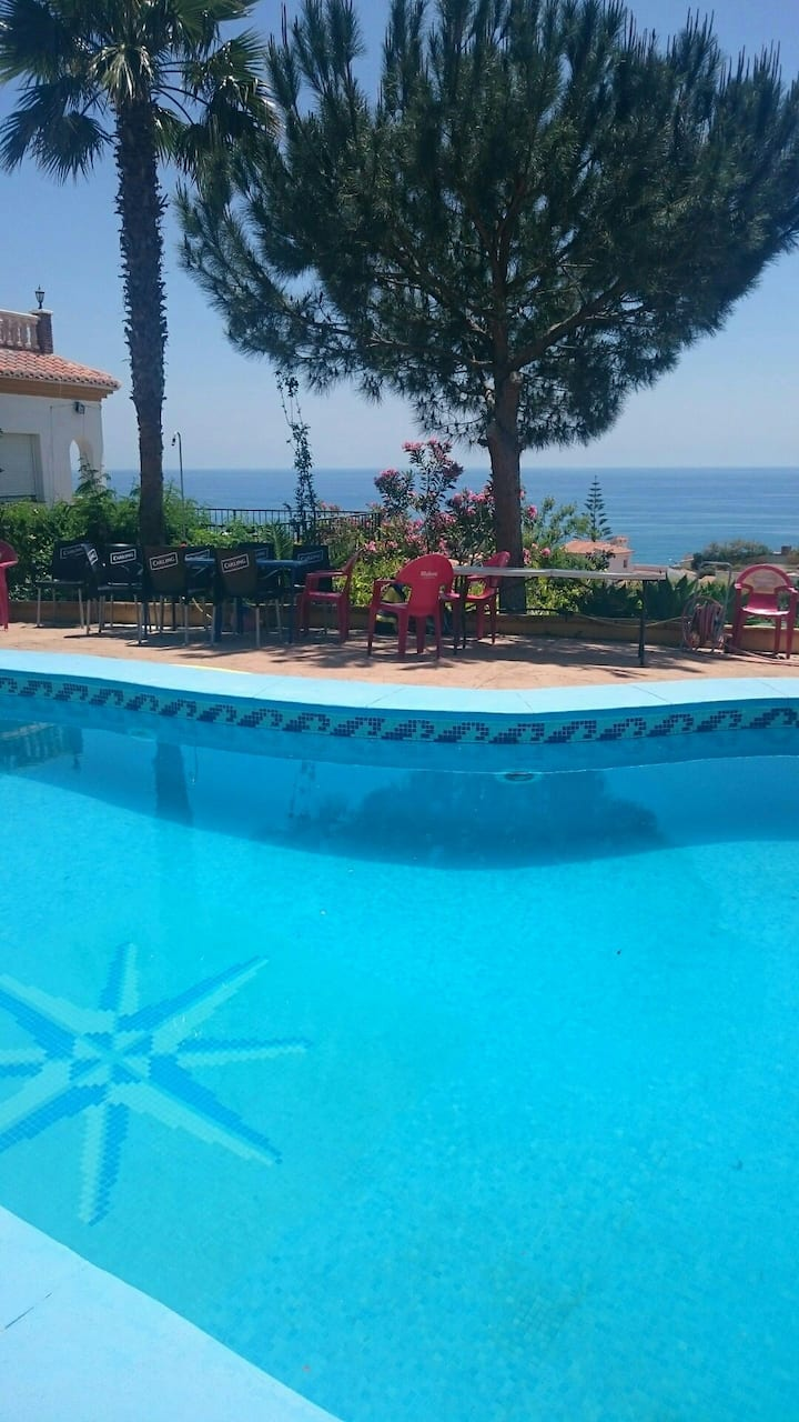 Stunning Seaviews private pool Benajarafe