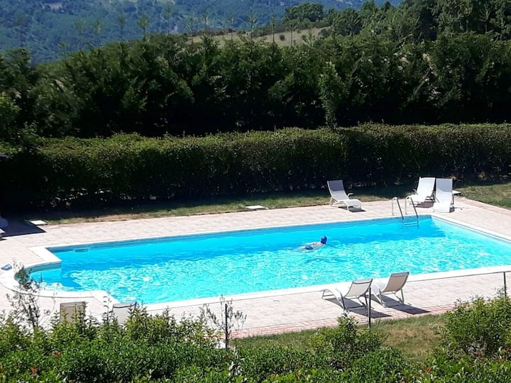Apartment with 2 bedrooms in Trivigno, with wonderful mountain view, shared pool, furnished terrace