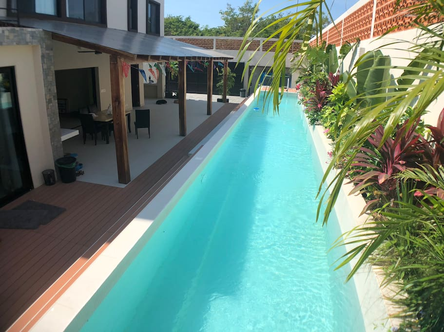 15m lap Pool and large covered patio