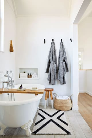 Master Bathroom with Parachute Egyptian Cotton Robes