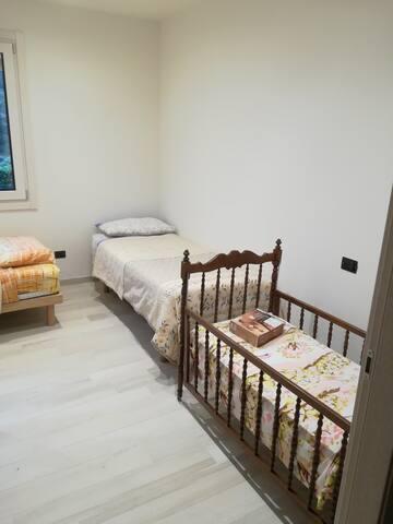 Camera privata, due letti più eventuale lettino