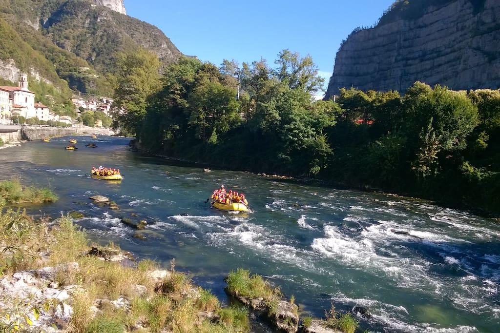 rafting sul fiume Brenta - rafting on river Brenta