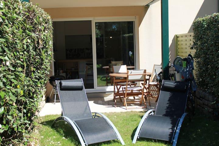 studio foret fouesnant avec jardin - La Forêt-Fouesnant - Appartement