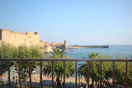 Balcon, vue mer et clim, centre ville - Collioure