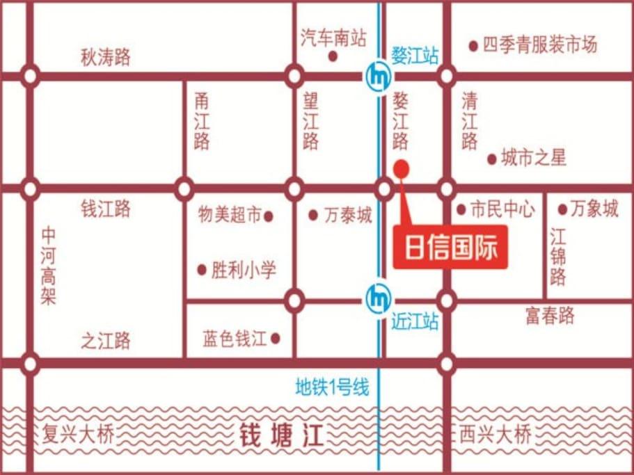 双地铁钱江新城商圈夜宵海鲜购物一应俱全