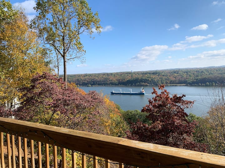 Classic Hudson Riverfront Home with Pool