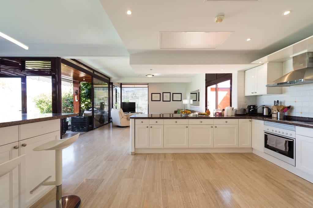 Amazing open plan kitchen - has everything you will need.
