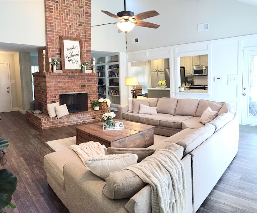 An open concept means even large groups can all be together.