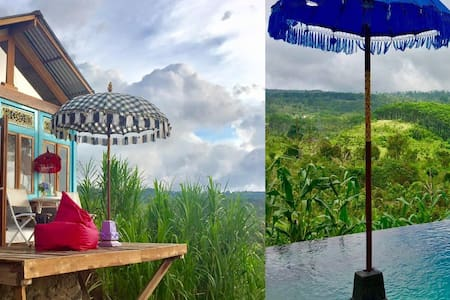 Bali Hidden Waterfall Tree House Cottage with pool - South Denpasar