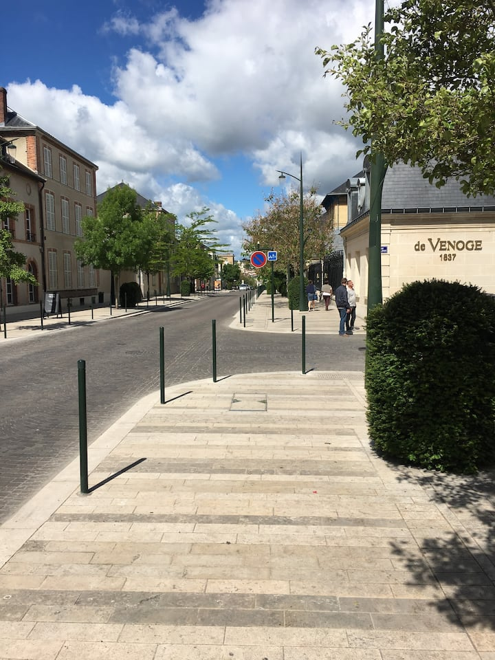 Champagne  Avenue Epernay city center