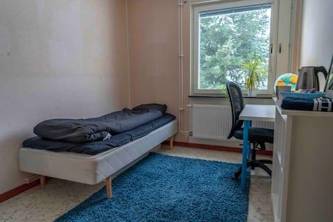Övernattningsrum med egen ingång & egen WC