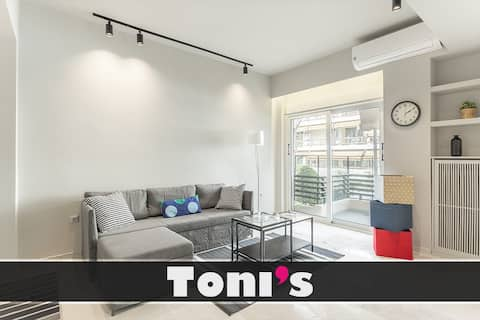 Toni's - 3BD The Lion King Apartment in Faliro!