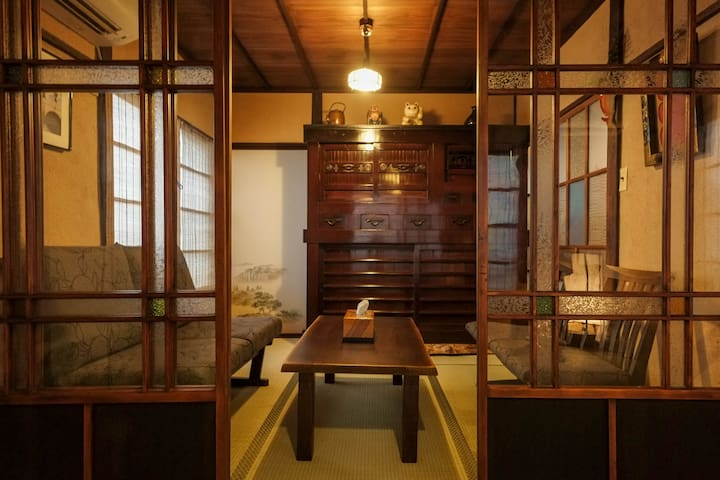 Traditional home - antiques, clay bath, zen garden - Kōtō-ku - House