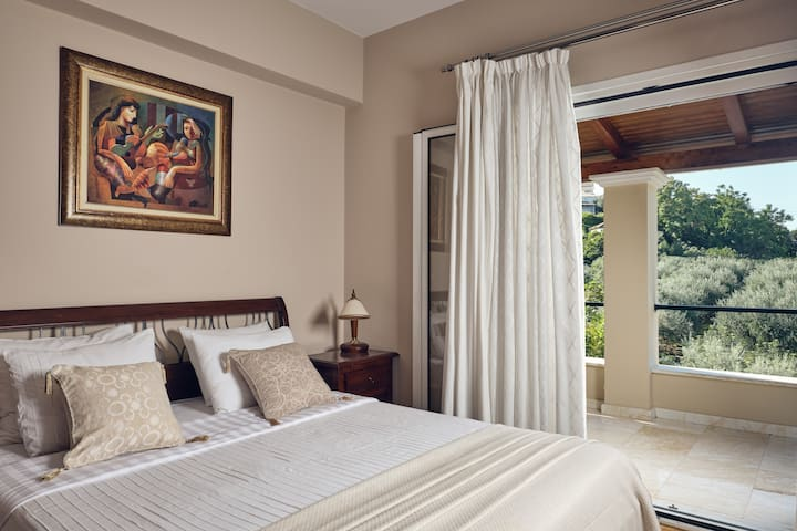 Bedroom with private balcony stunning view