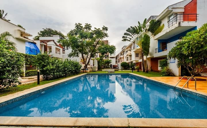 AspireSolVilla2~2Bhk~WiFi~Pool~Beach500m~Caretaker