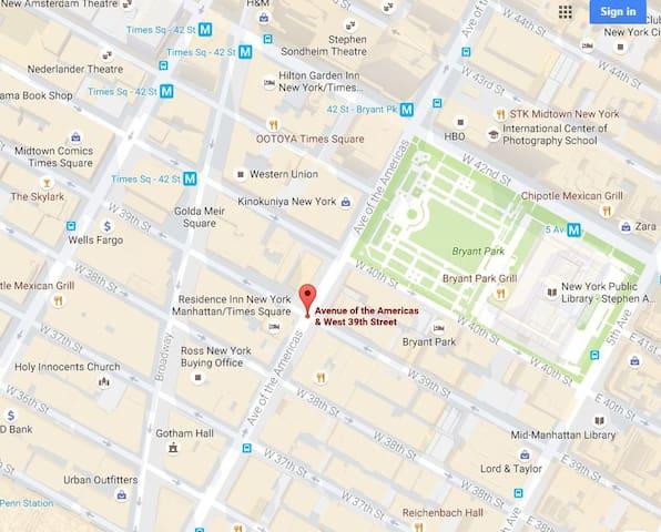 Times Square Best Location Studio (Entire apt)