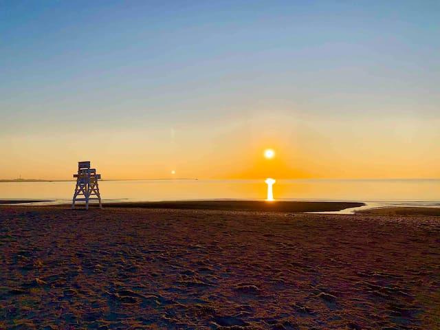 Nothing better than a summer sunset at Penfield beach