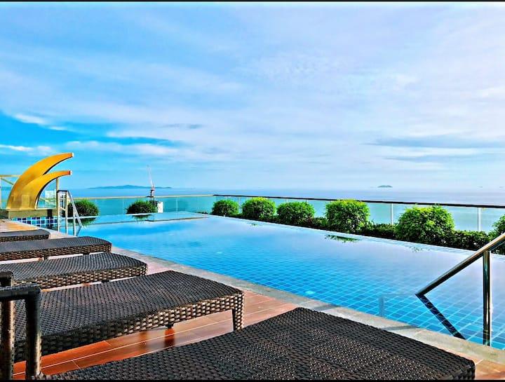 270 Degree sea view, Best Location in pattay无敌海景