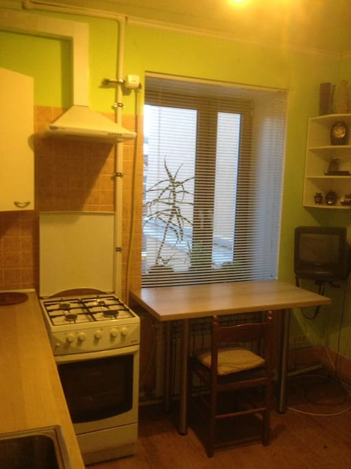 Kitchen. Nice & Cosy with all the necessary kitchen appliances. Washing machine is located in the kitchen as well.