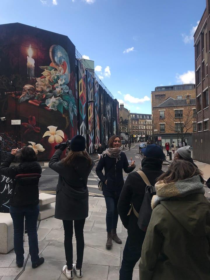 Admire the stunning street artworks