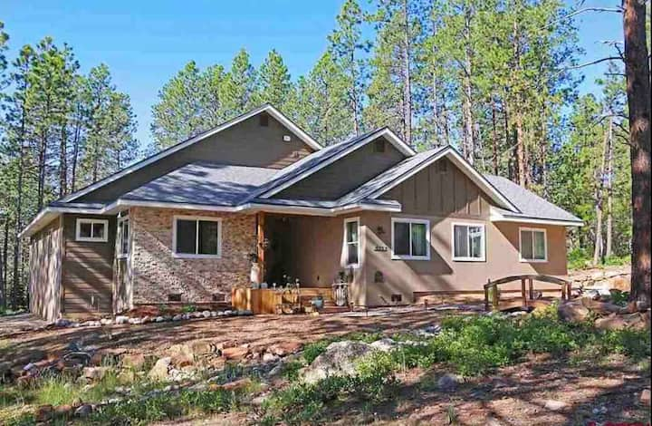 New, Spacious Mountain Getaway among the pines.