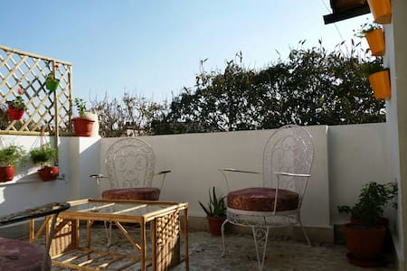 Private studio with shared garden terrace