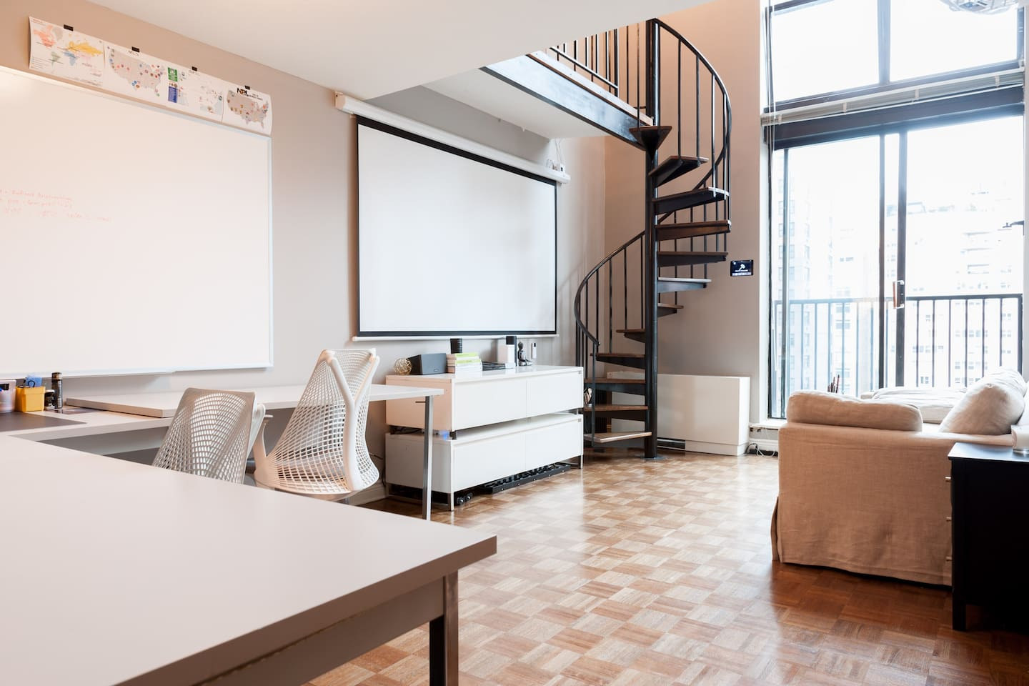 2 STORY LOFT WITH SPIRAL STAIRCASE - Apartments for Rent in New York ...
