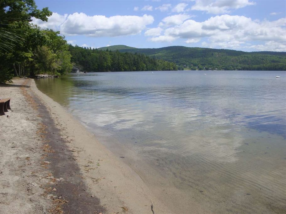 with rights to use the Hebron NH town beach on Newfound Lake!