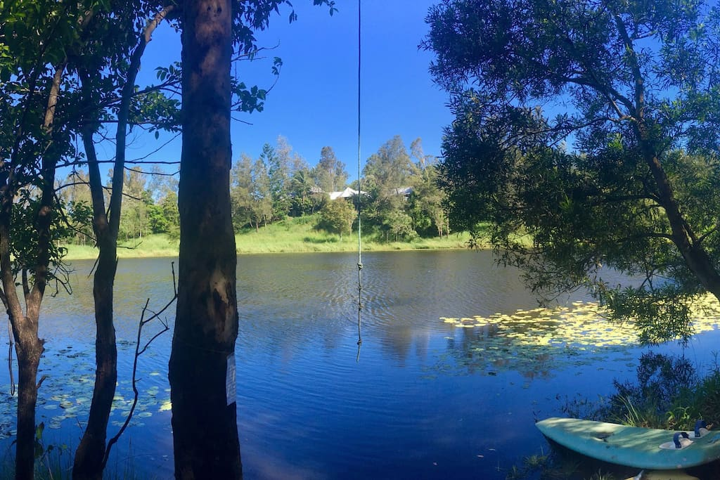 Stunning small lake where you can have a delightful swim just next to the house
