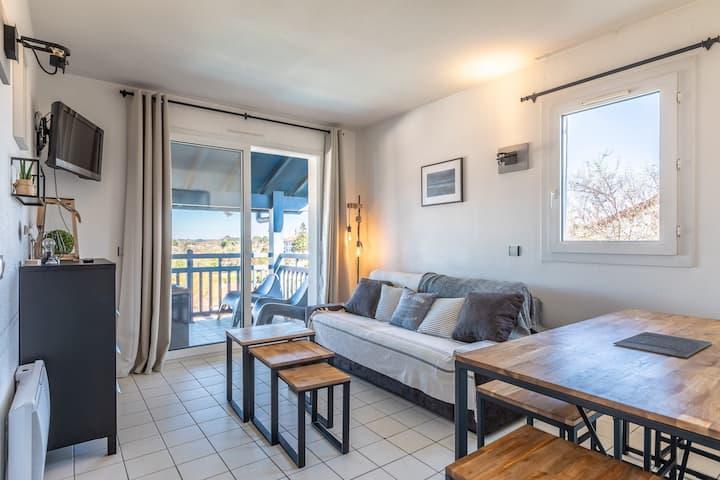 Guetaria - T3 - vue Ocean, piscine et parking