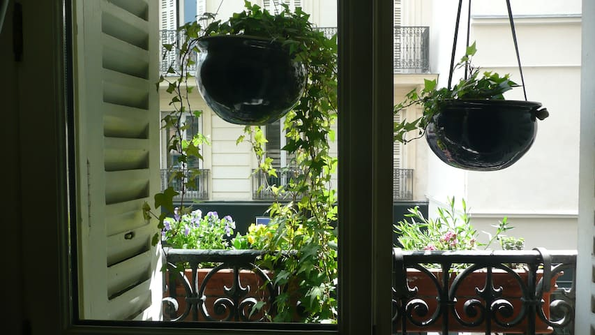 Window in your bedroom. There was some sun today (but don't count on it--this is Paris).