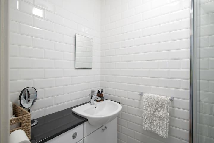 Hand wash and Hand cream in bathroom