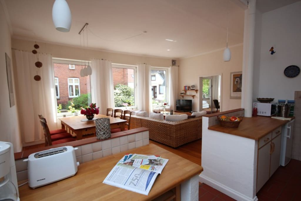 Küche, Essbereich, Wohnbereich WATT