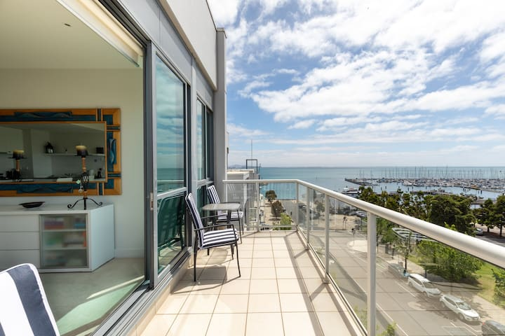 Outstanding views across to the yacht club