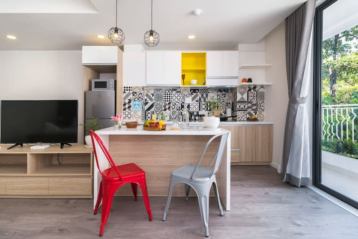 Each room comes with a fully-equipped kitchenette