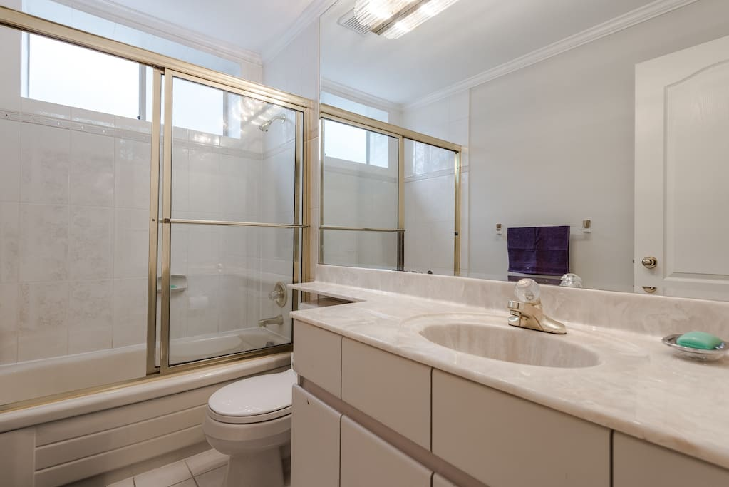 This is your bathroom. It is shared, but only with one other room.